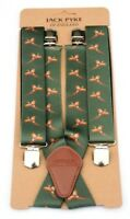 Pheasant Green Shooting Braces Mens Shooting Gift