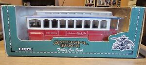 1994 Ertl Anheuser Busch Trolley Car Bank Diecast 1:43 Scale adult collectible