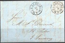 GERMANY 1865 Hamburg: Entire with 1¼s - 23932