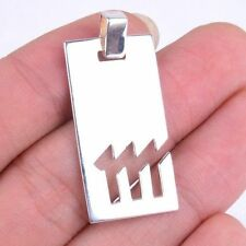 Genuine 925 Sterling Silver Virgo Zodiac Sign Cut Out Bar Pendant Jewelry M242