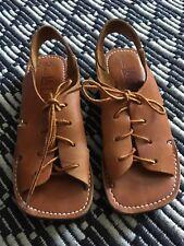 Vtg La Donita Made In California Hippy Boho Gladiator Leather Sandals 5 Nos