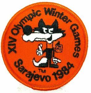 Vintage 1984 Sarajevo Winter Olympic MASCOT VUCKO Embroidered Patch Original