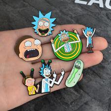 Women Men Enamel Cartoon Rick And Morty Middle Finger Brooch Pins Badge Jewelry
