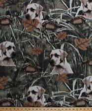 Fleece Duck Hunt Hunting Dogs Dog Hunters Ducks Fleece Fabric Print A505.27