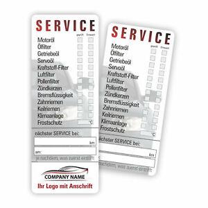 Serviceaufkleber mit Logo Service Aufkleber KFZ Inspektion Wartung Ölwechsel