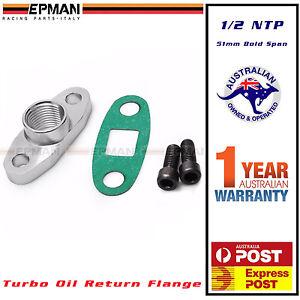 Turbo oil drain return 1/2 NPT adapter flange Garrett T3 T4 T04 GT40-GT55 51 mm