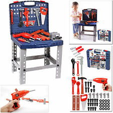 Children 69PC DIY Tool Drill Play Toy Work Bench Kids Boys Portable Workshop Kit