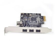 Combo 3x1394b + 1x 1394a Firewire Ports PCI-Express Controller Card TI Chipset