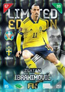 PANINI Kick Off 2021 EURO 2020 LIMITED  IBRAHIMOVIC very RARE !!!