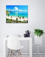 "12x16"" Hawaii Beach Tropical Palms Abstract Art Wall Decor Print Painting Canvas"