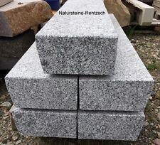 Blockstufe Lausitzer Granit Trittstufe mit Untertritt massiv 100x30x18cm grau