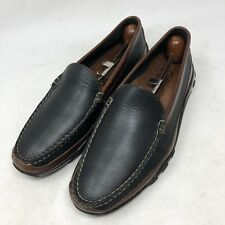 Allen Edmonds Boulder Black Brown Casual Driving Moc Loafers Men's Size 9 D