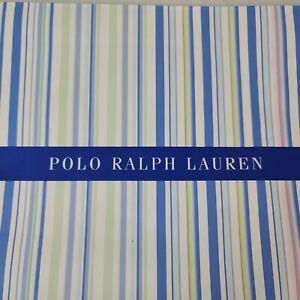 Polo Ralph Lauren Blue Green White Striped Gift Bag Box Vintage 90s for Shirt