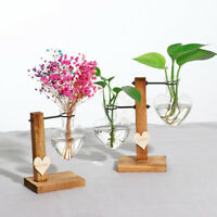 Love Glass Test Tube Flower Pot Hydroponic Vase Terrarium Container Home Decor