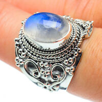 Rainbow Moonstone 925 Sterling Silver Ring Size 8 Ana Co Jewelry R30171F