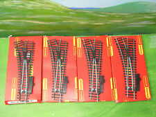 HORNBY - 4 x R612 Left hand system 6 Standard points track - OO Gauge boxed