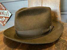 Vintage Borsalino Fedora Hat Brown Made in Italy 7 1/4 Stetson