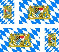 4 x Aufkleber Auto Sticker tuning motorrad bayern bavaria Fahne Flagge