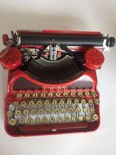 Vintage / Antique Red LC Smith & Corona Typewriter - Amazing Condition