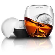 1 On The Rock Spirit Whisky Glasses 1 Ice Cube Balls Increasing Nosing Of Aromas
