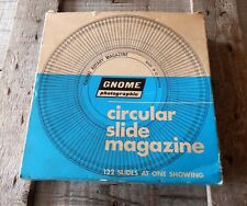 Vintage Gnome Rotary 35mm Slide Magazine 122 Capacity Carousel Boxed