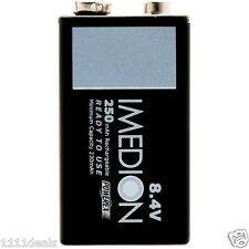 Powerex Imedion 9V 8.4V 250mAh Rechargeable NiMH Maha Battery