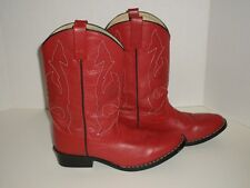 Masterson Cowboy Boots Red Leather With Stitch Detail Size 4.5Y RB2004Y Nice