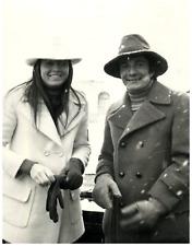 Tisot con il marito  Vintage silver print Tirage argentique  18x24  Circa
