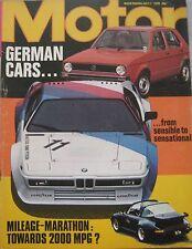 Motor 1/7/1978 featuring Fiat Supermirafiori road test, Mercedes 300SL Gullwing