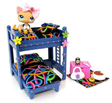 Littlest Pet Shop OOAK Furniture Bunk Bed Custom Made Wood with Accessories Lot