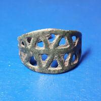 ANCIENT VIKING  BRASS SPIRAL RING 1211 .