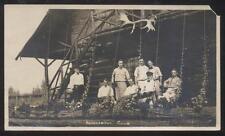 REAL PHOTO Postcard HAMILTON BEACH CANADA  Knockabout Club House Gang 1910's