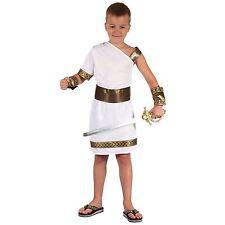 Child Gladiator Costume Boys Greek Caesar Book Week Day Fancy Dress Outfit New