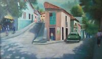 Vintage Oil By  Rivera Painting