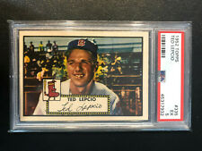 1952 Topps #335 Ted Lepcio Red Sox PSA 5 High Number Set Break