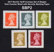NEW 2017 M17L MACHIN TARIFF SET 5v on SECURITY BACKING PAPER SBP2