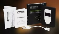 Trezor Cryptocurrency (Bitcoin Ethereum Litecoin etc) Wallet White UK Stored