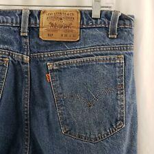 Levis 517 Blue Jeans Vintage USA Made Denim Orange Tab Mens 36x31
