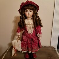 """Barb Corning (Olga) 20"""" Bisque/Cloth Doll #759/2000. Doll stand included"""