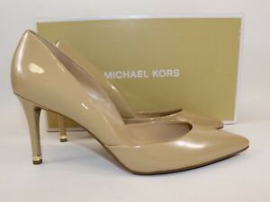 NIB $189 MICHAEL KORS Size 9.5 Women's Nude 100% Leather ASHBY FLEX Mid Pump