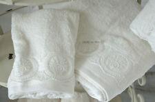 Gästetuch Handtuch Set Frottee Offwhite Bad Badezimmer Shabby Landhaus
