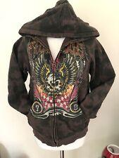 Mens Billabong Hooded Sweatshirt Dark Size M