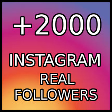 2000  REAL FOLLOWERS |BEST QUALITY|