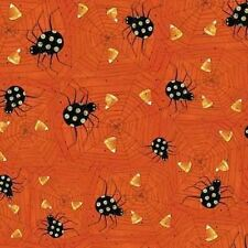 WITCHFUL THINKING SPIDERS SPIDERWEBS HALLOWEEN FABRIC