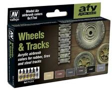 Wheels & Tracks: 6 Airbrush Paints for Tanks and Vehicles (Vallejo 71213)