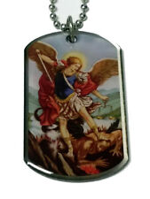 DTN-19 Prayer to Saint Michael Dog tag Necklace / Keychain