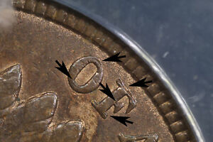 ANACS AU55 1891 Indian Cent **SNOW 1 DOUBLED DIE OBVERSE** TOP 100 VARIETY