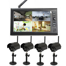 "7"" Digital 2.4G Home CCTV Security System Wireless IR Camera Baby Monitor DVR"