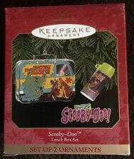 Hallmark: SCOOBY-DOO - Lunch Box Set (Set of 2 Ornaments) - Dated 1999
