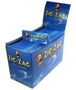 Zig Zag Standard Blue Rolling Paper - Box Of 100 Booklets